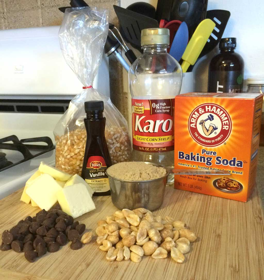 Salted Caramel Popcorn Mix Ingredients