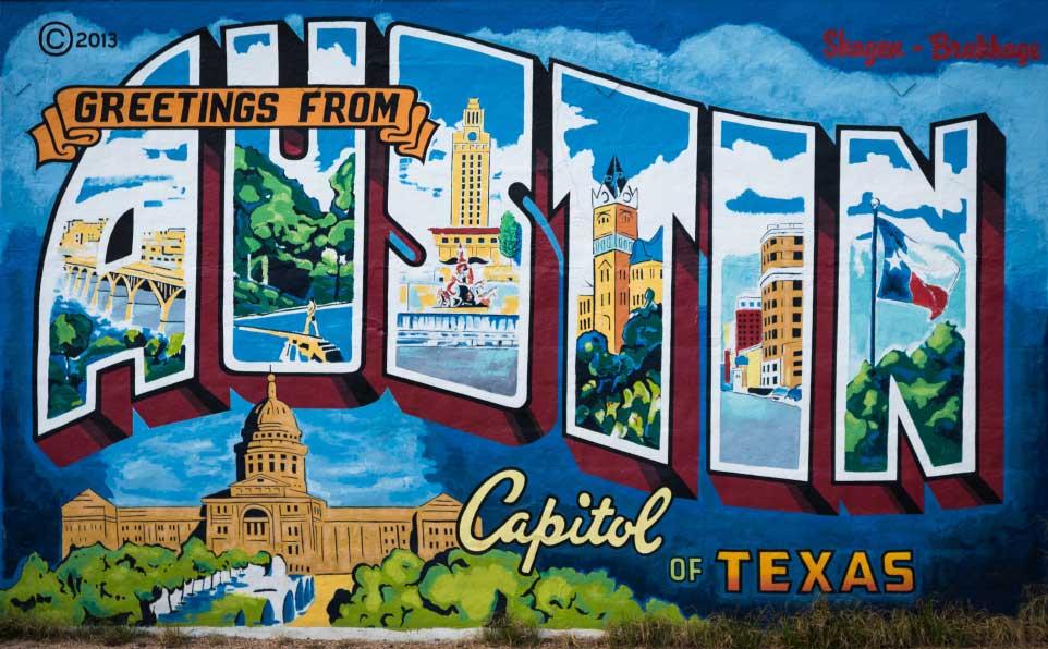 Austin Postcard Sign