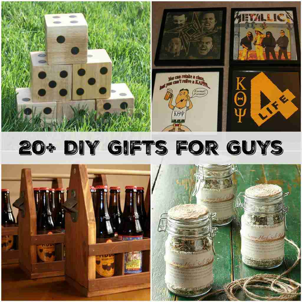 20+ Handmade Gifts Guys will Actually Like