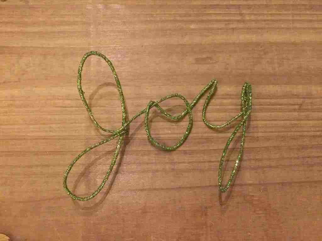 JOY Handwriting Ornament - 5 minute project!