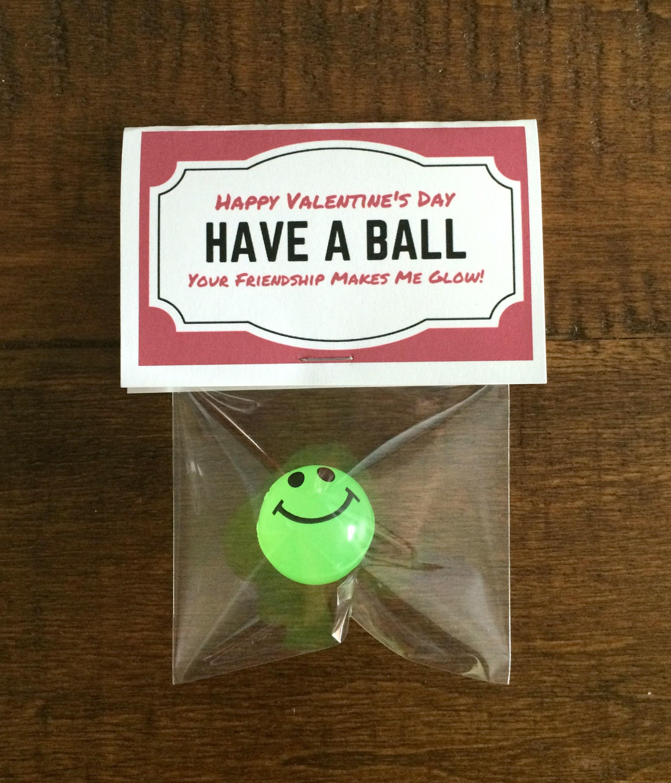 Glow Bouncy Ball Valentine