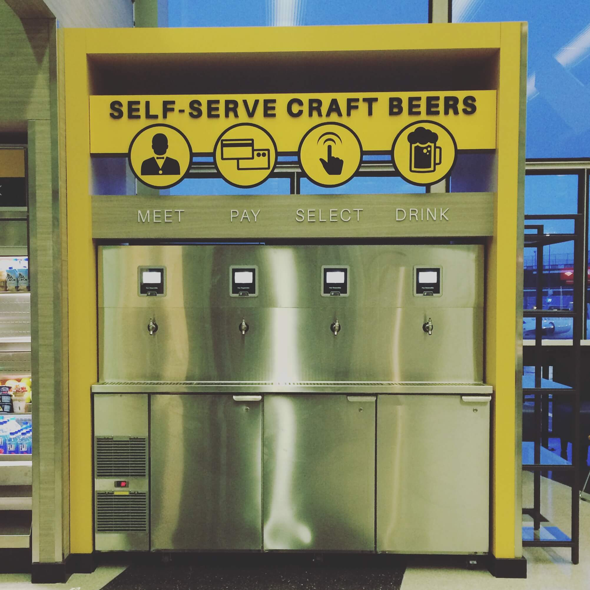 craft beer self serve - Chicago Ohare