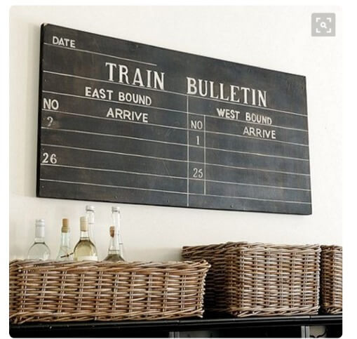 Vintage Inspired Train Sign Ballard Designs