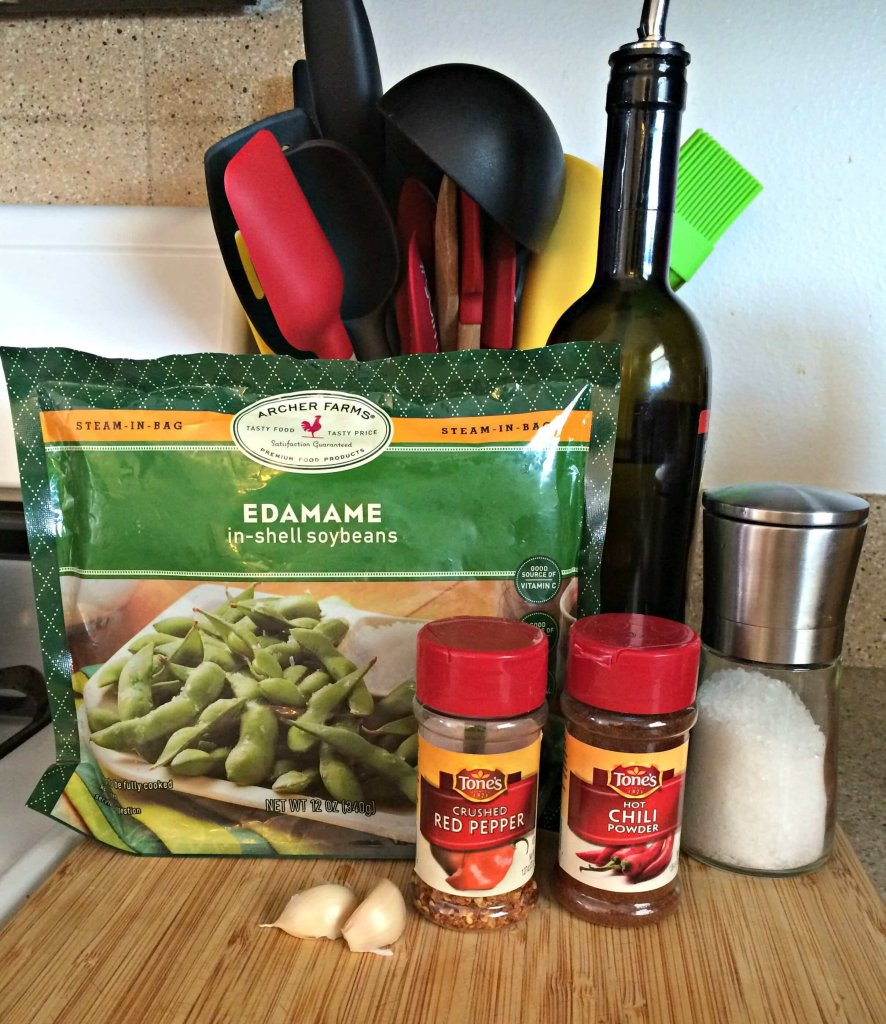 Spicy Garlic Edamame - ingredients