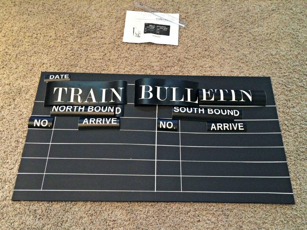 DIY Train Sign - lay out letters