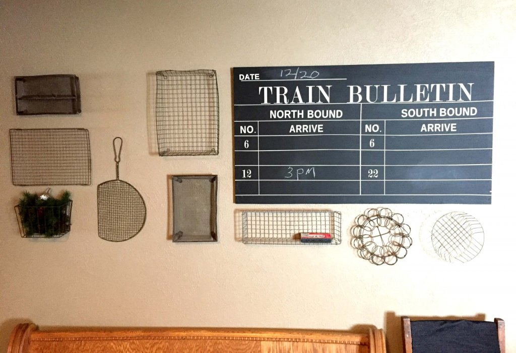 Vintage Inspired Chalkboard Train Sign