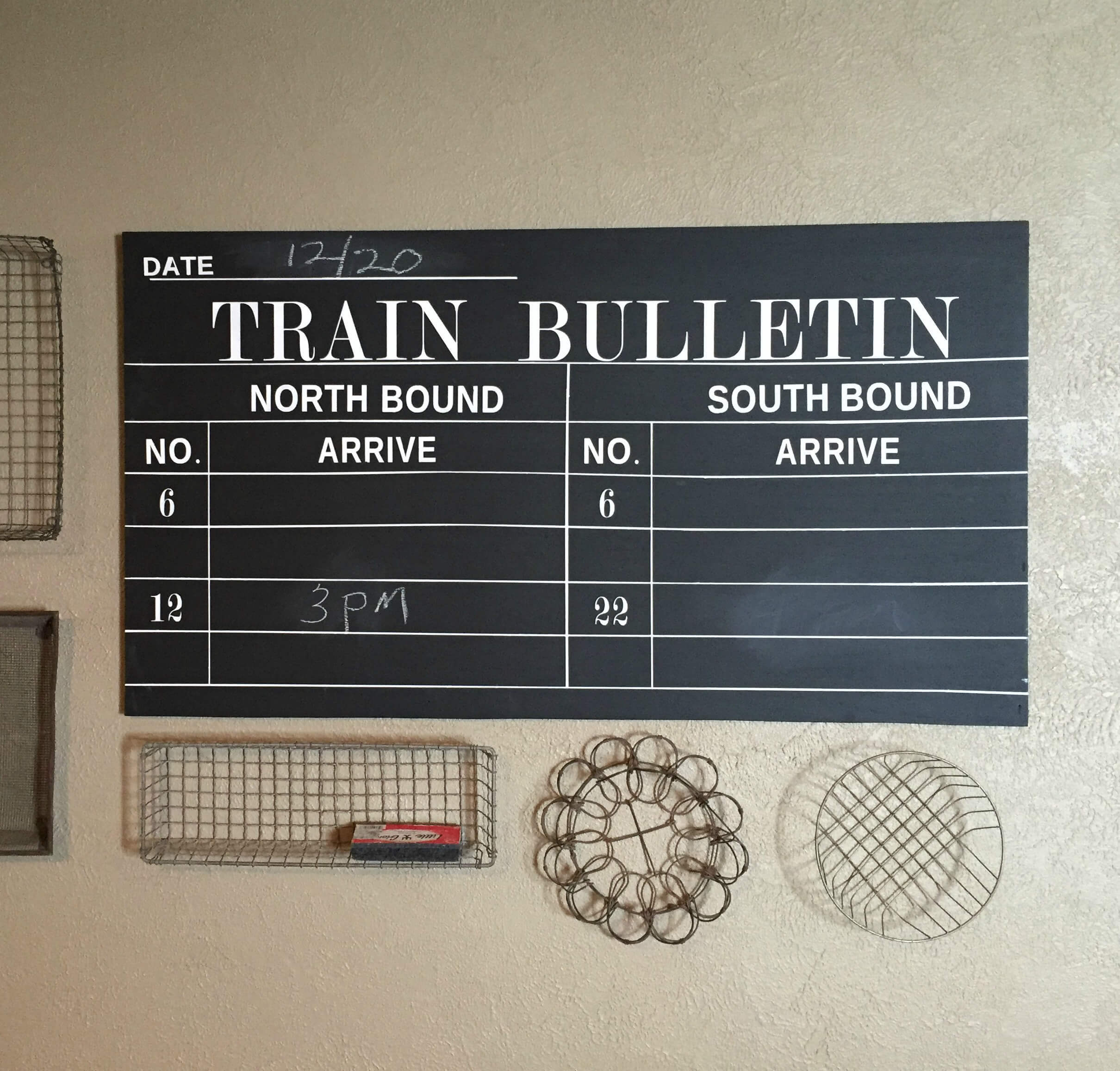 Vintage Inspired Train Depot Sign