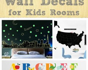 25 Creative Wall Decals for Kids Rooms - - glow in the dark, Star Wars, Favorite teams, space, Harry Potter, transportation, nursery themes and more!