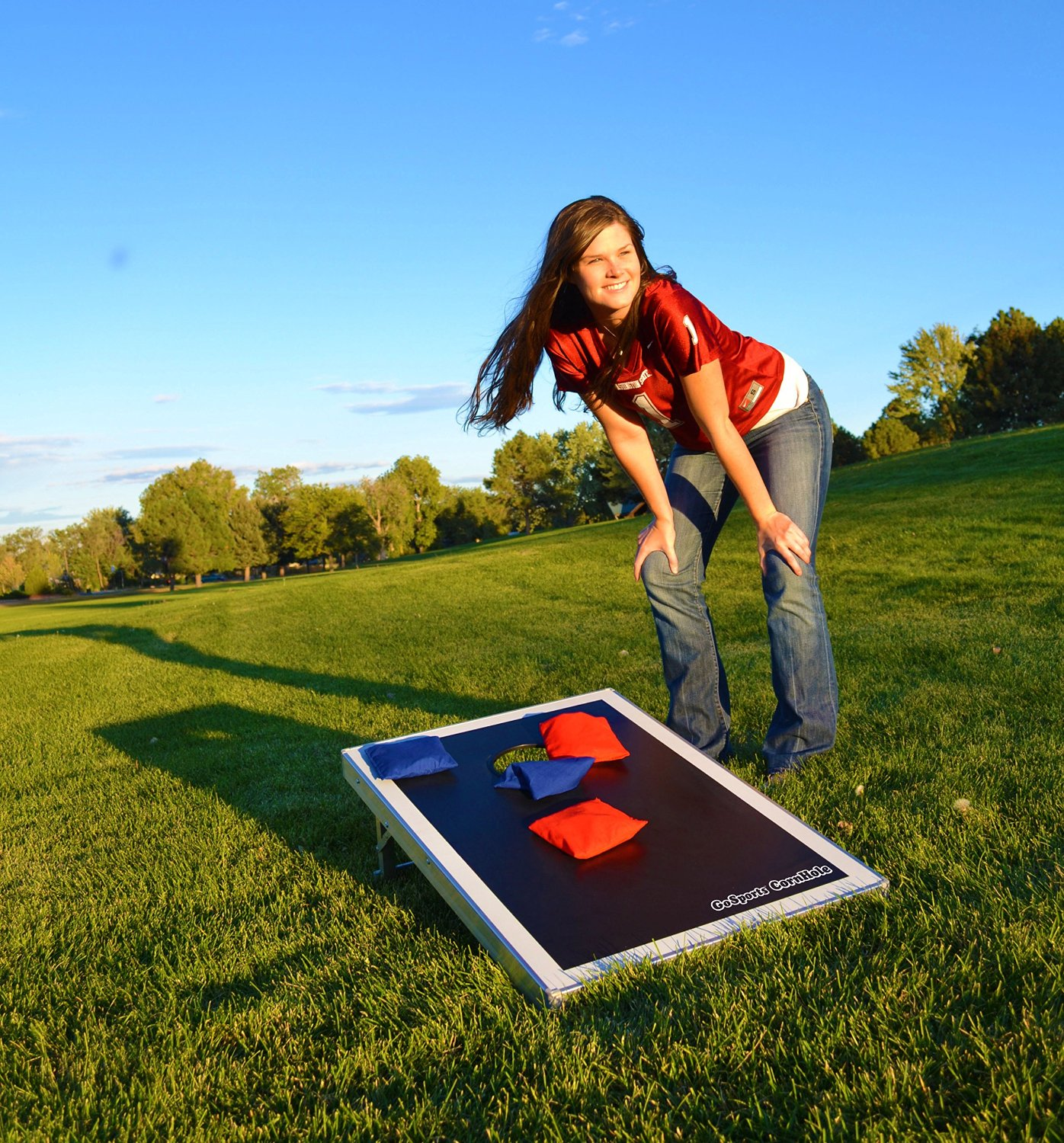 corn hole or bags game best games for outdoor parties