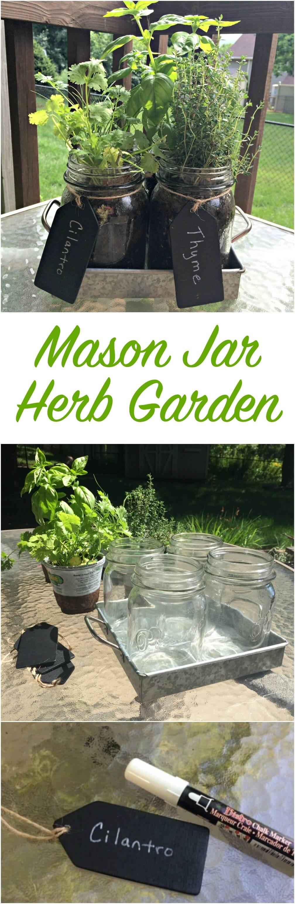 Make a Mason Jar Herb Garden
