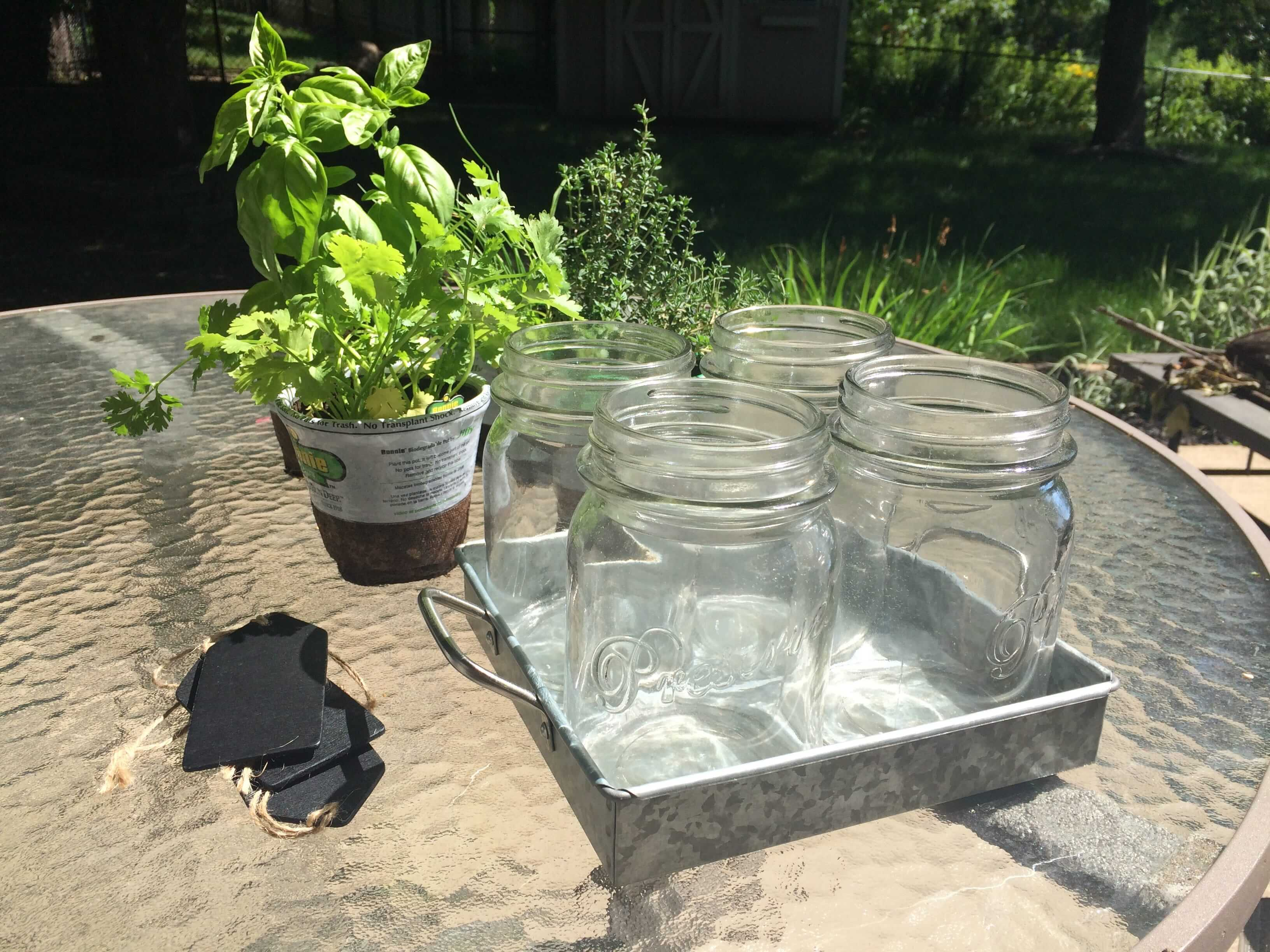 Mason Jar Herb Garden Supplies