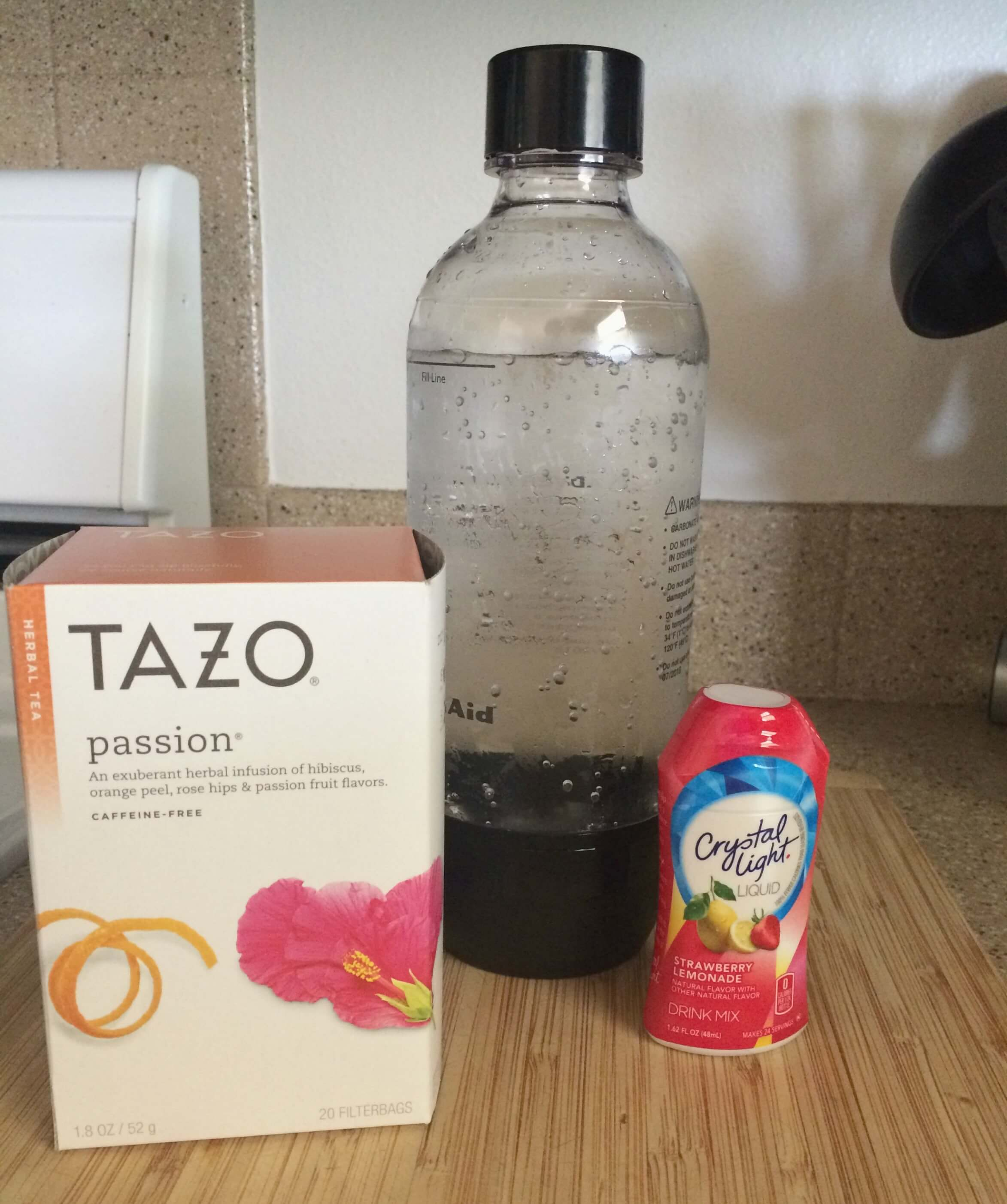 Sparkling Iced Tea and Lemonade ingredients