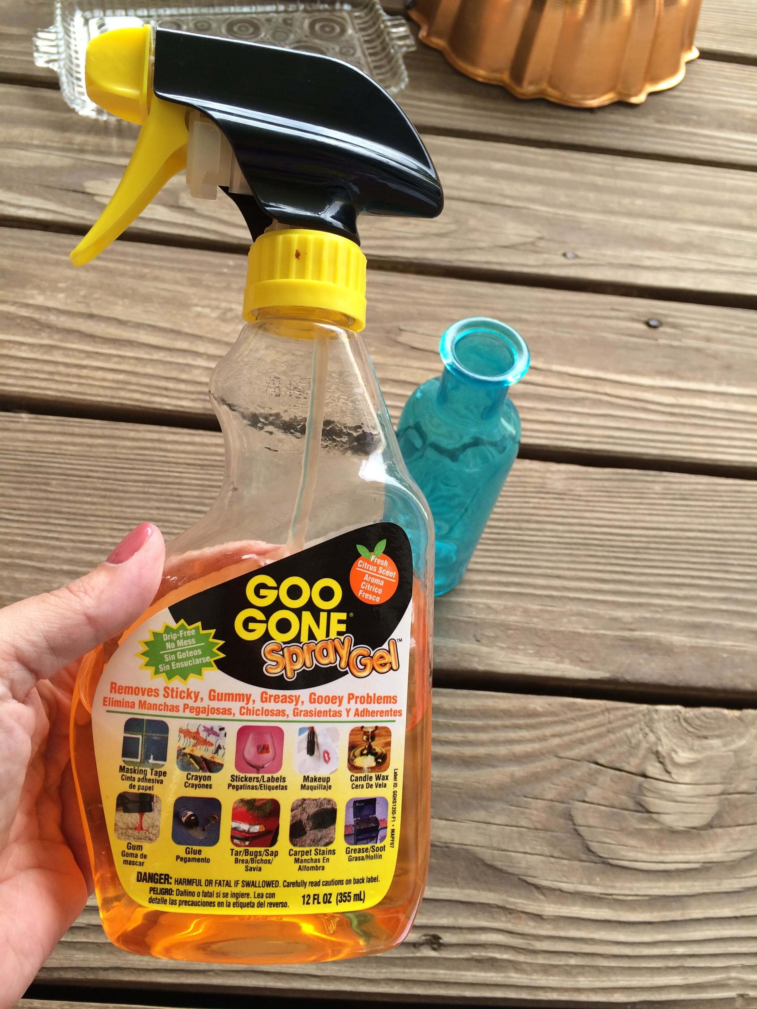 Cleaning Up Garage Sale and Thrift Store purchases - Goo Gone Spray Gel
