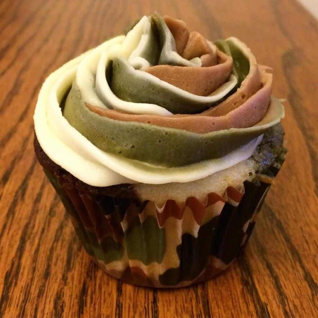 Camoflage Cupcakes