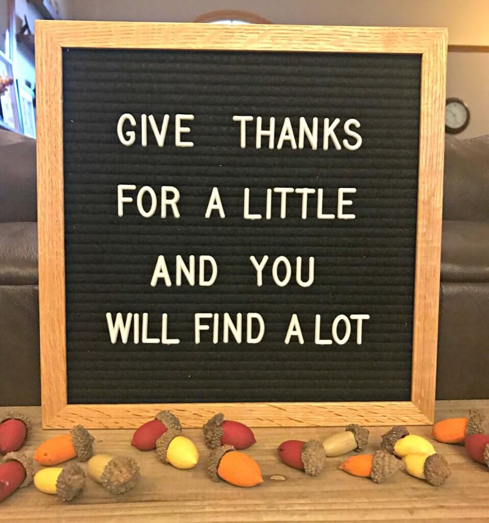 Give Thanks for a Little and You Will Find A Lot - Thankful quotes
