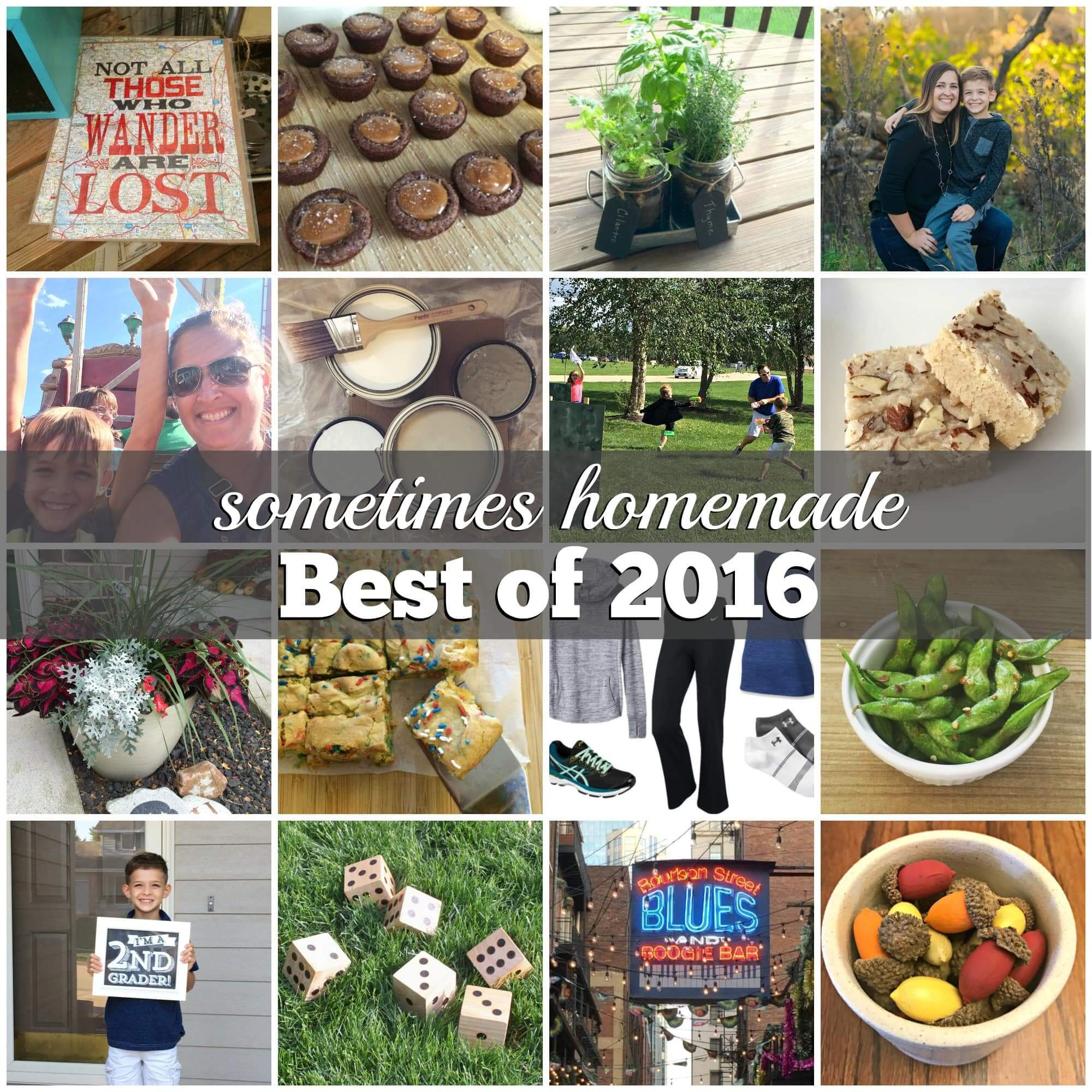Sometimes Homemade - Best of 2016 - Top 10 posts of the year including salted caramel brownie bites, best outdoor games, ideas for an ultimate Nerf birthday, and more!