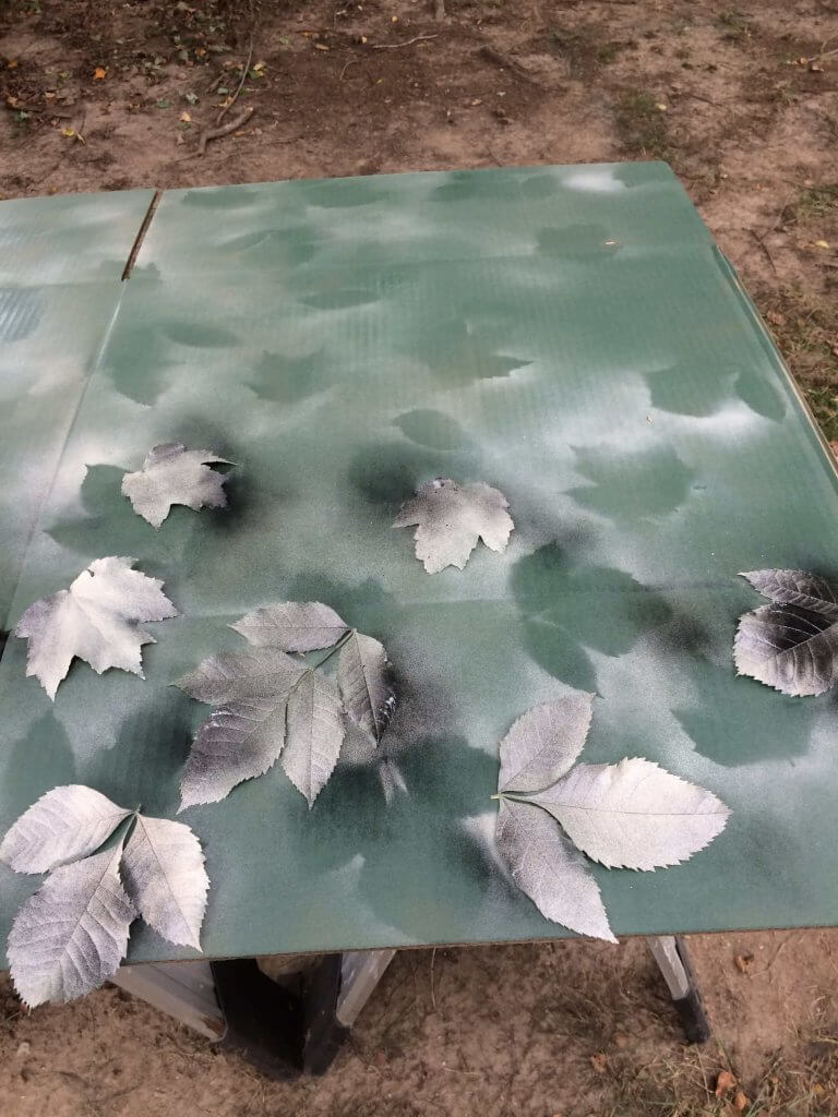 painting camouflage - adding new color