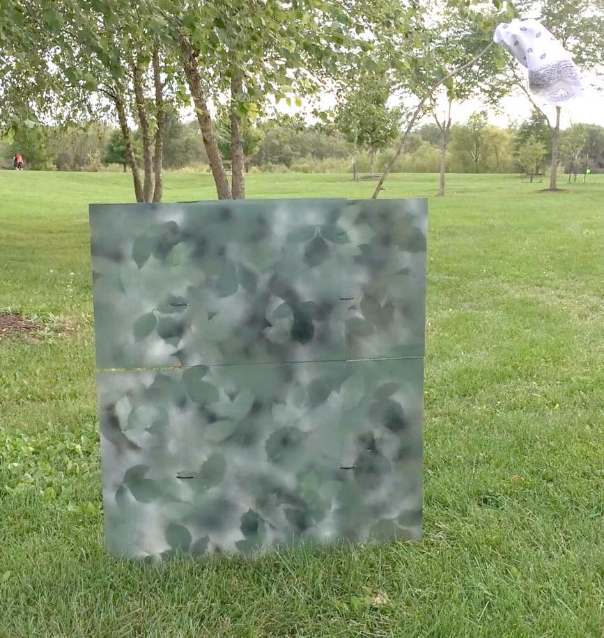 Painting Camouflage for Nerf Battle Blinds