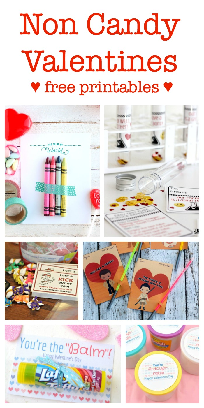 Non-Candy Valentines - Free Printables! - Sometimes Homemade