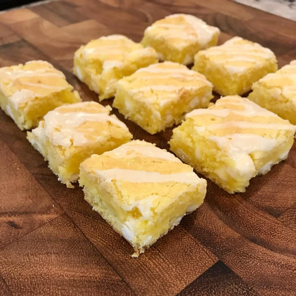 Easy Lemon Cake Batter Bars