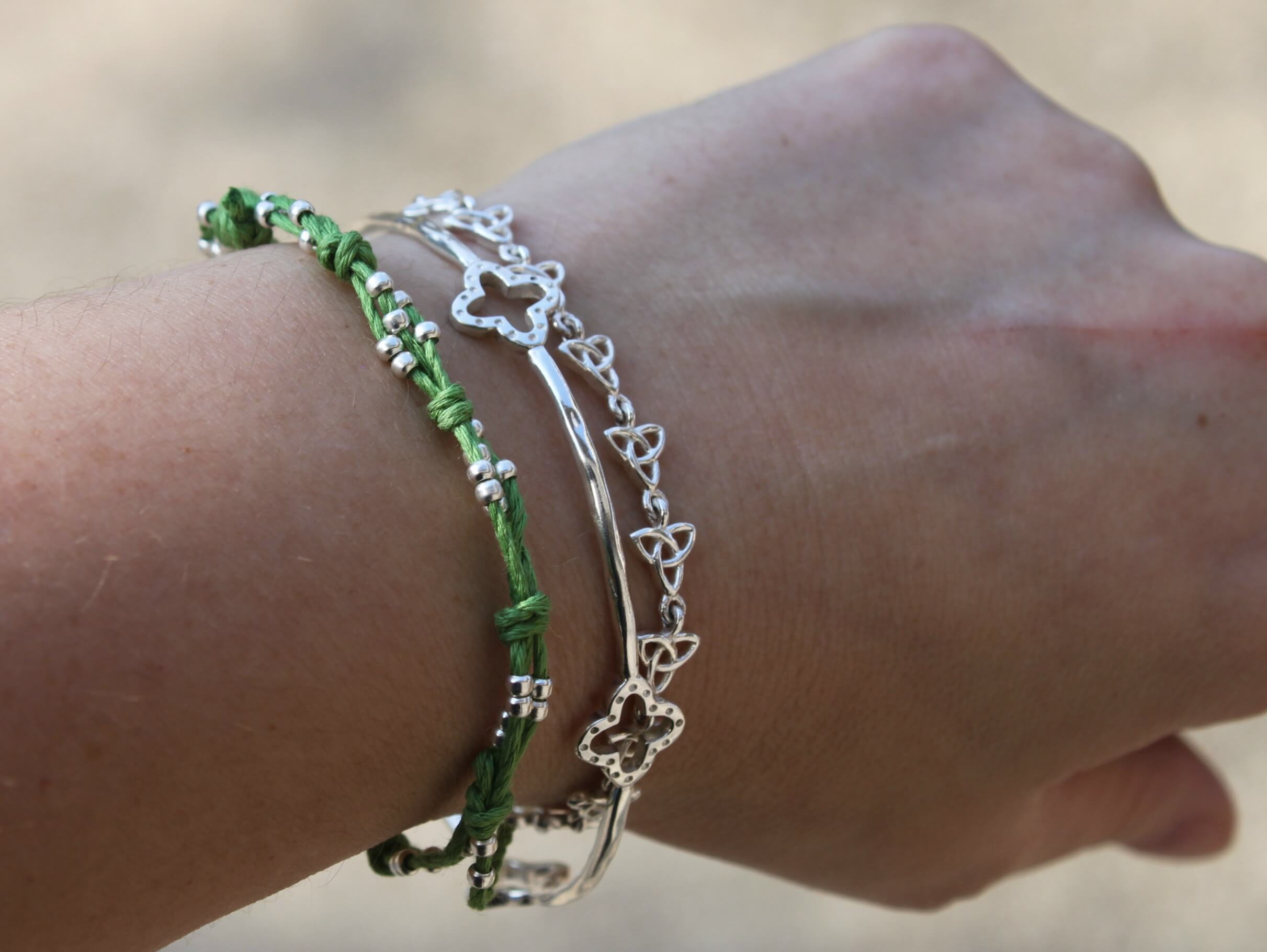 Bead And Knot Cord Bracelet Sometimes Homemade