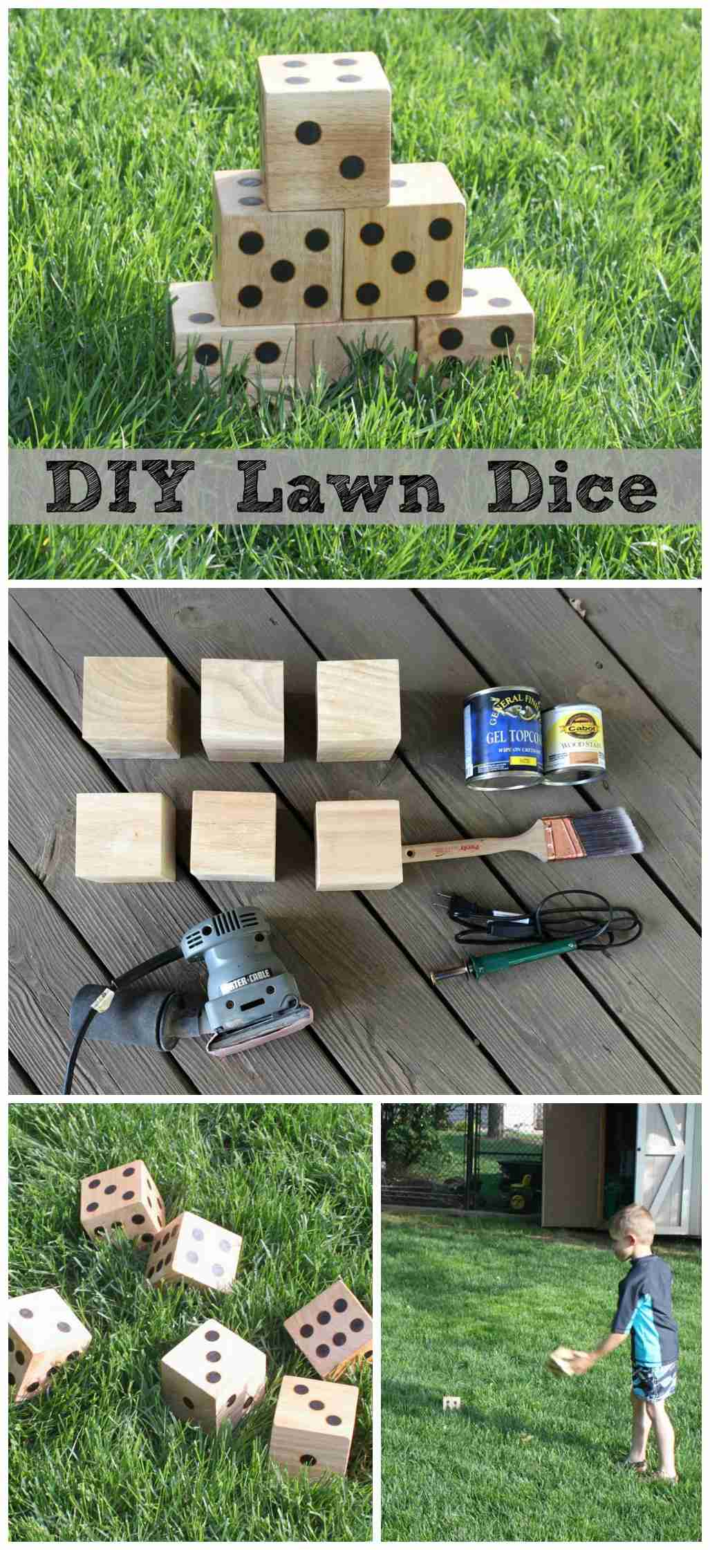 Diy Wooden Lawn Dice Make Your Own Yard Perfect For Next