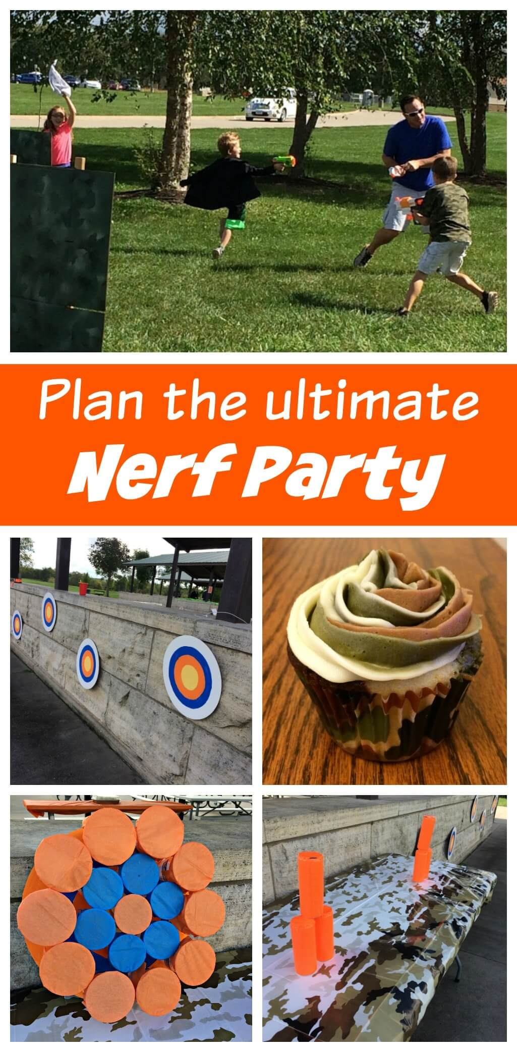 The Ultimate Nerf Battle Birthday Party - Sometimes Homemade